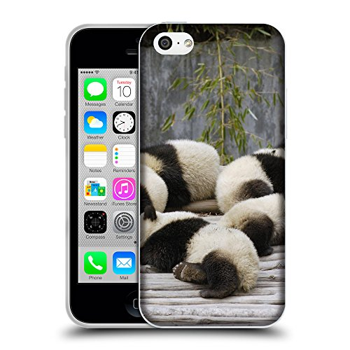 Just Phone Cases Coque de Protection TPU Silicone Case pour // V00004101 Panda ours oursons sommeil // Apple iPhone 5C