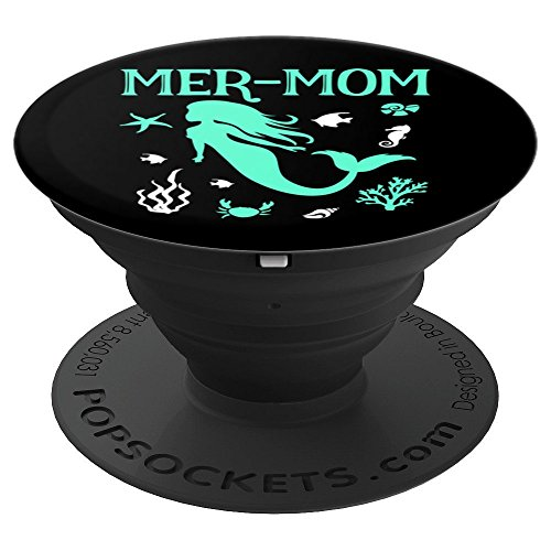 Mermaid Gift Mermaid Mom Birthday Mer-Mom Gifts - PopSockets Grip and Stand for Phones and Tablets by Mermaid NB Designs