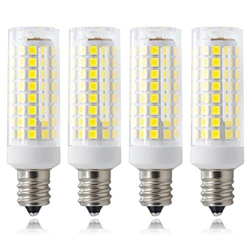 E12 Candelabra Bulb, All-New(102x2835smd) Dimmable 8W White E12 Candelara Base, 120V Omni-Directional E12 Indoor Lighting Bulb (Pack of 4)