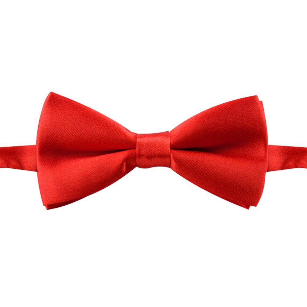 Pinzhi Hombres Boy para Niños Conjunto Sólido Bowtie Mariposa de La Boda de Moda Pajaritas Corbata Caliente(Nanvy)