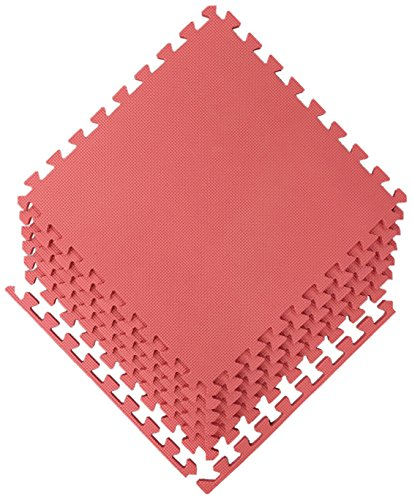 Play Red Carpet (Ottomanson Multipurpose Interlocking Puzzle Eva Foam Tiles-Anti-Fatigue Mat 24 Sq. Ft, 24