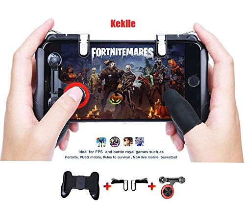 Mobile Game Controller[Upgrade Version]?Xinyun Sensitive Shoot and Aim Keys L1R1 and Gamepad for PUBG/Knives Out/Rules of Survival, Mobile Gaming Joysticks for Android IOS(1Pair+1Gamepad)