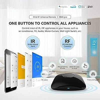 BroadLink IR Control Hub, RM Mini3 Smart Home WiFi (2.4GHz), mando a distancia infrarrojo universal, uno para todos los controles (frijol negro): Amazon.es: Bricolaje y herramientas