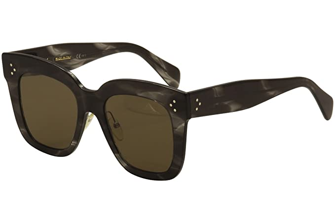 a38f65b38f2bb Image Unavailable. Image not available for. Colour  Celine CL 41444 0GQ QS Kim  Havana Grey Plastic Square Sunglasses Brown Lens