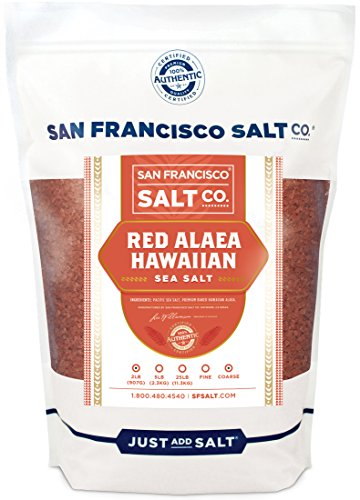 Red Alaea Hawaiian Sea Salt (2 lb. Bag - Coarse Grain) by San Francisco Salt Company
