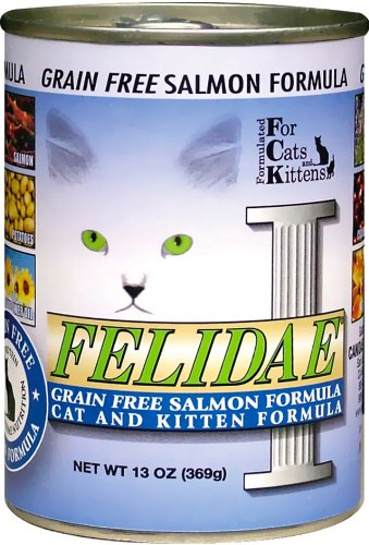 Felidae Canned Cat Food, Grain Free Salmon Formula,  13 Ounce Cans (Pack of 12), My Pet Supplies