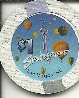 - $1 stratosphere house las vegas casino chip super rare