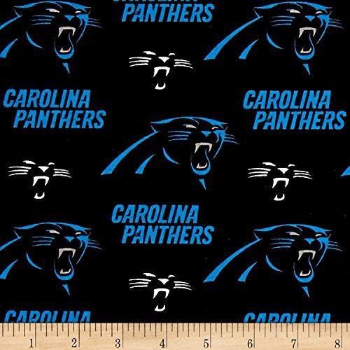 Zen Creative Designs 100% Cotton NFL Sports Team Carolina Panthers Black Multi-Print Window Valance Panel/Kids Nursery Window Treatment Decor (24