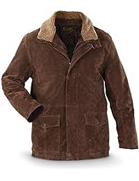 Men's Double Collar Leather Rancher Coat - 408 63