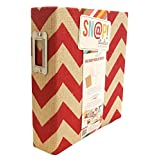 Simple Stories Snapt Burlap Binder, 6 by 8-Inch, Red