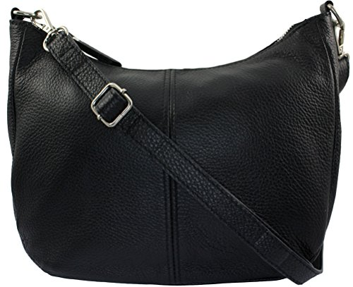 CHLOLY Mamamia Italie Sac bandouliere Noir Cuir xYqrPHaY