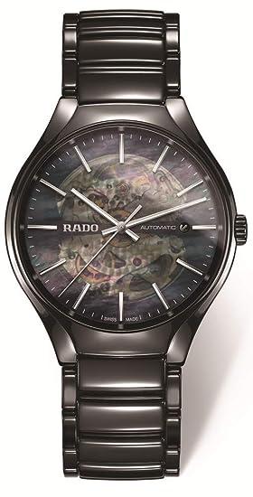 Rado True Reloj de hombre automático 40.1mm correa de cerámica R27100912: Amazon.es: Relojes