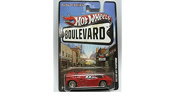 Hot Wheels Boulevard Ahead Of Its Time Vector W8 Twinturbo Red by Hot Wheels: Amazon.es: Juguetes y juegos