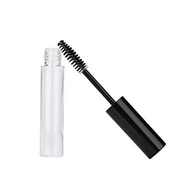 e3c58bb8489 Amazon.com: LEERYAAY Women Makeup 10mL Empty Mascara Tube Eyelash Cream Vial/Liquid  Bottle/Container Black Cap: Beauty