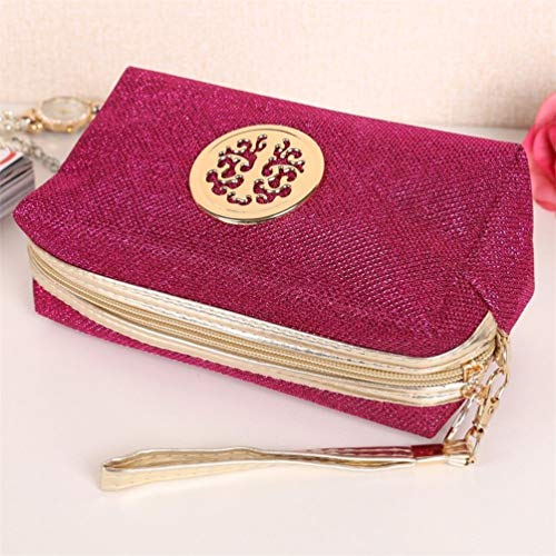 Amazon.com: floralby purpurina neceser de viaje mujer bolsa ...