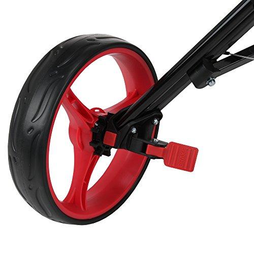 Caddymatic Golf 360° SwivelEase 3 Wheel Folding Golf Cart Black/Red by Caddymatic (Image #6)
