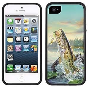 meilz aiaiLarge Mouth Bass Fishing Fish Handmade iPhone 5C Black Casemeilz aiai