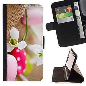 Momo Phone Case / Flip Funda de Cuero Case Cover - Huevo flor de la nieve primavera Naturaleza - Samsung Galaxy S6 Active G890A