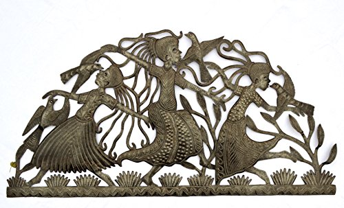 Cheap it's cactus – metal art haiti Girls Dancing, Haitian Metal Art, Recycled Steel, Handmade, Fair Trade 34″ x 17″