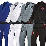 Sanabul Essentials Version 2 Ultra Light BJJ Jiu Jitsu Gi with Preshrunk Fabric (Black, A1)