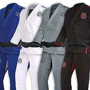 Sanabul Essentials Version 2 Ultra Light BJJ Jiu Jitsu Gi with Preshrunk Fabric (Black, A0)