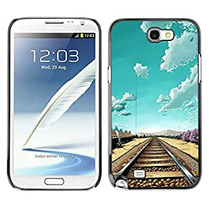 Dragon Case - FOR Samsung Note 2 N7100 - I'm fine - Caja protectora de pl??stico duro de la cubierta Dise?¡Ào Slim Fit