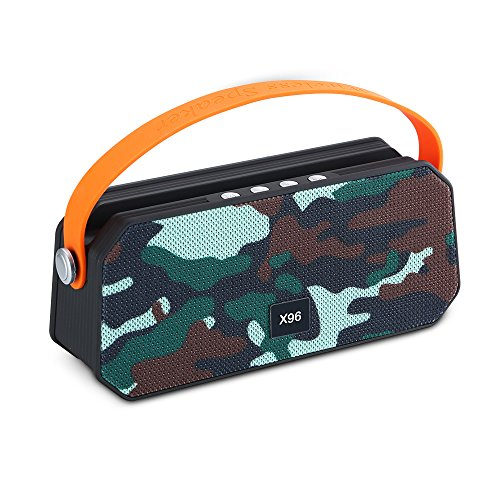 Waterproof Bluetooth Speaker, Huafly Portable Wireless Stereo Speaker With Water Resistant IPX5 Dual-Driver & Built-in Mic, Mobile Holder Stand, Music Player Outdoor 3D Stereo Speaker for Pool, Beach by Huafly