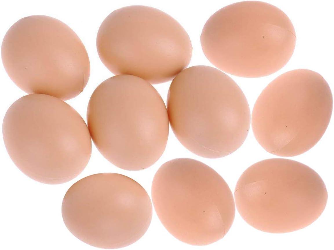 Eqlef® Nest 10pcs artificial huevo falso alimentaria Dummy para la decoración de Casa