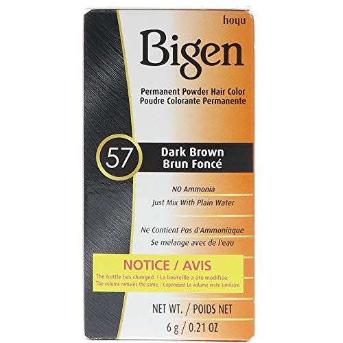 Bigen Permanent Powder Hair Color, Black Brown No.58, 0.21 O