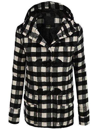 Plaid Toggle Coat Jacket - 5