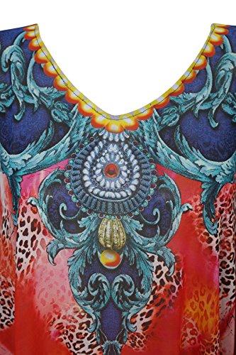 Red Kimono Mogul Einheitsgröße 1 Interior Blue Damen Blau Kleid ozeanblau qqPwE8C