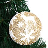 New Tuscom Christmas Balls Hanger Baubles,for Xmas Tree Hanging Ornament Party Decor(3 Colors) (Gold, S)