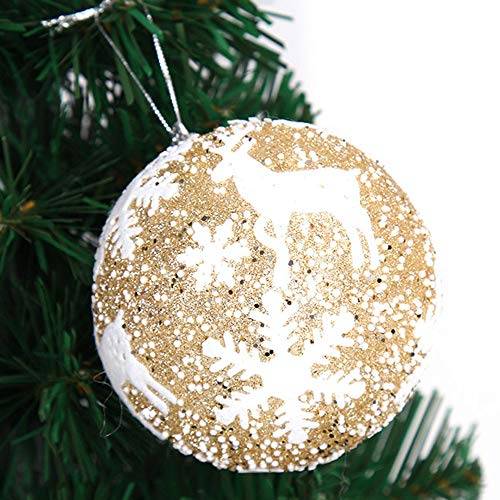 New Tuscom Christmas Balls Hanger Baubles,for Xmas Tree Hanging Ornament Party Decor(3 Colors) (Gold, S) by Tuscom@ (Image #3)