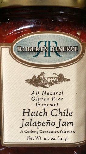 Robert's Reserve Gourmet Dips, Glazes, Sauces, Jams, Relish (Pack of 2) (Hatch Chile Jalapeno Jam, 11 Oz) ()