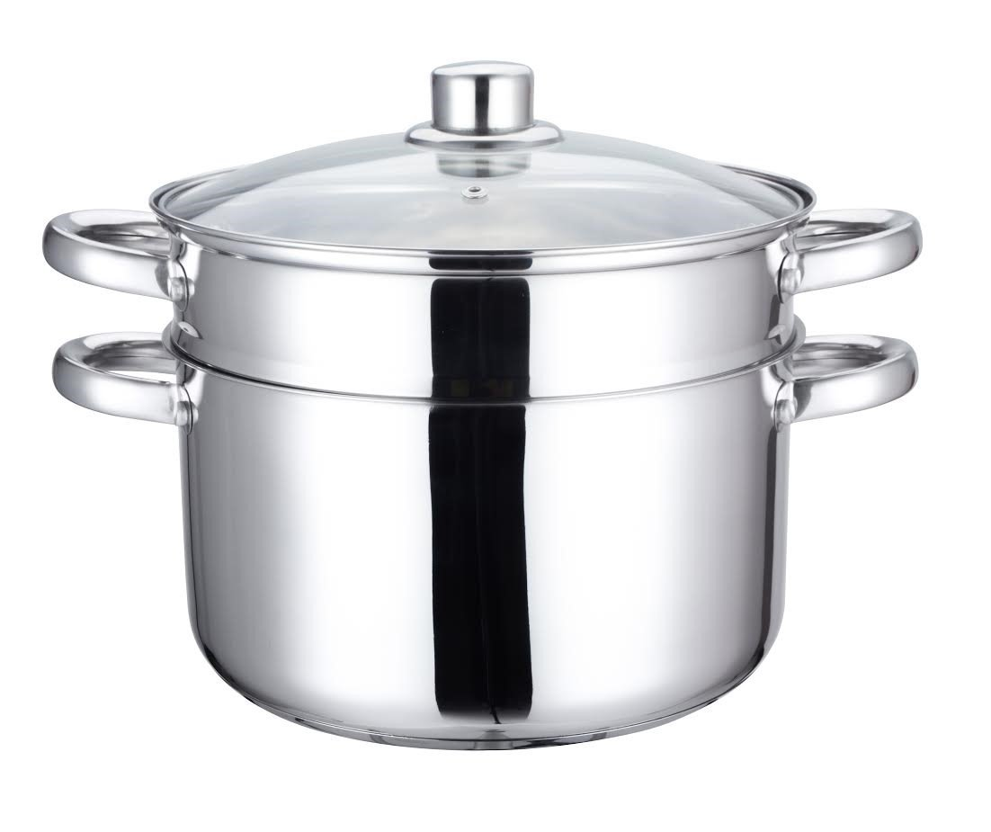 Home N Kitchenware Collection 24cm Stainless Steel Steam Pot