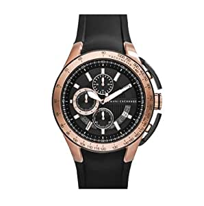 Armani Exchange AX1406 - Reloj para hombres, correa de goma color negro