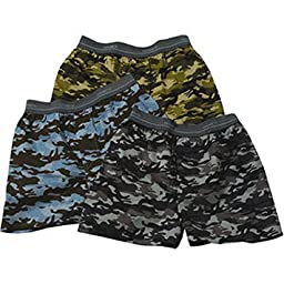 Hanes Boy\'s 100% Cotton Camouflage Woven Boxers 4-Pack (3+1 Free) (Small (21\