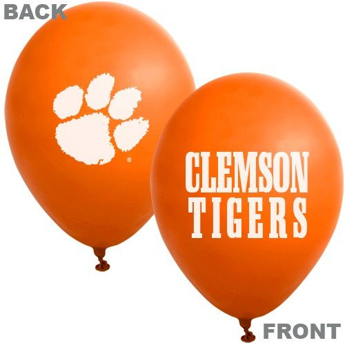 Clemson Tigers Orange 10-Pack 11'' Latex Balloons by Football Fanatics (Image #1)