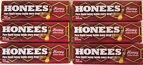 Filled Candy (Honees All Natural Honey Filled Drops 9 Count (Pack of 6))