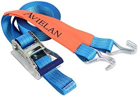 アヴィエラン(AVIELAN) ラッシングベルトJフック ×4m 固定側0.7m