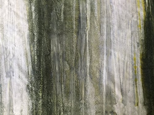 (Sage Green, Taupe to Seaglass Green, Spruce Ombre Batik Stripe Watercolor Blender ~ HALF YARD ~ By Wilmington ~ Patt: 5520 Color: 902 ~ Tie Dye (Ikat) Bali Batik Quilt Fabric 100% Cotton 45