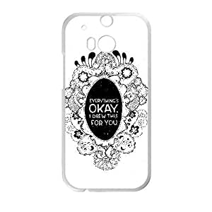 HTC One M8 phone case White OKAY AADE3531398