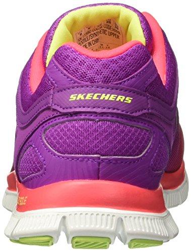 Skechers Flex Appeal Style Icon, Baskets mode femme Rose (Hppr)