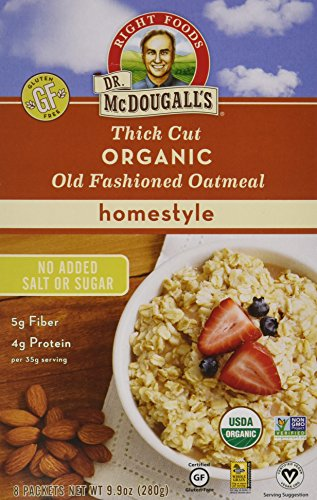 Dr. McDougall's Right Foods Organic Instant Oatmeal, Original, Net Wt. 9.9 Oz, 10-Count Boxes (Pack of 6)