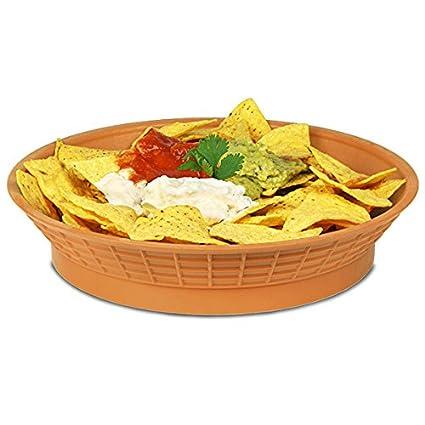 Comedor redondo Tablecraft plato con Base marrón 26,67 cm/27 cm | Bandeja