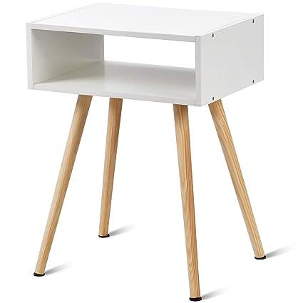 Yongtaifeng Table de Chevet Table d\'Appoint en Bois Moderne et Rustique  Scandinaves (Modèle 1)
