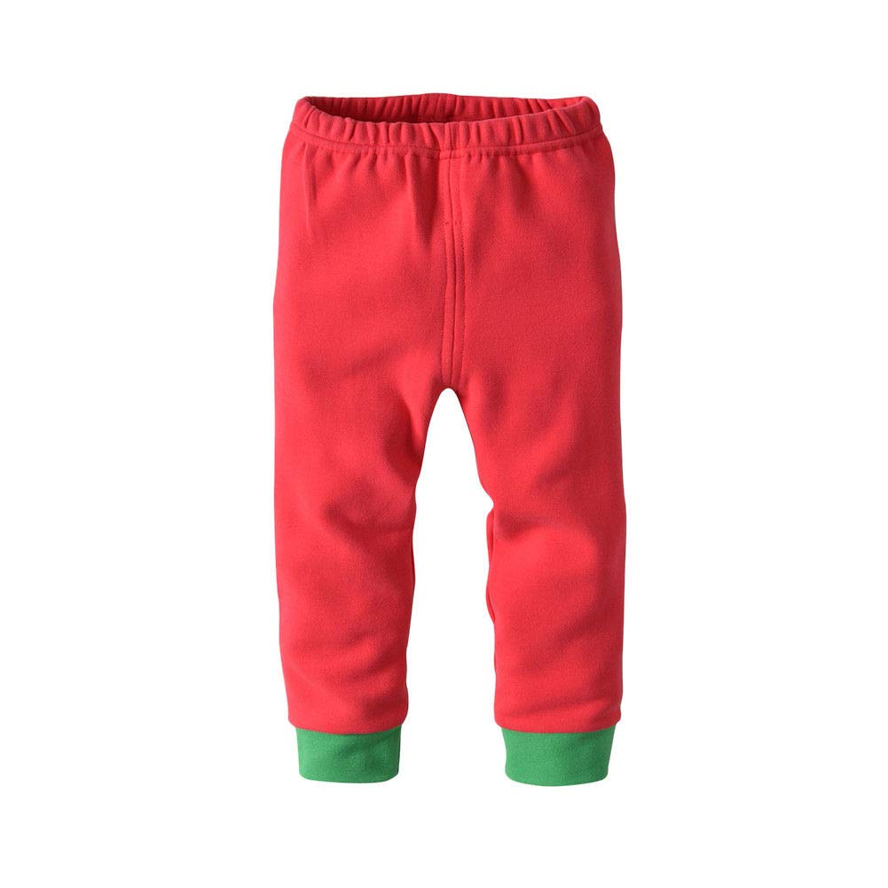 Fosheng Kids Pajamas Long Sleeve Pants Sanding Cotton Sleepwear Baby Homewear