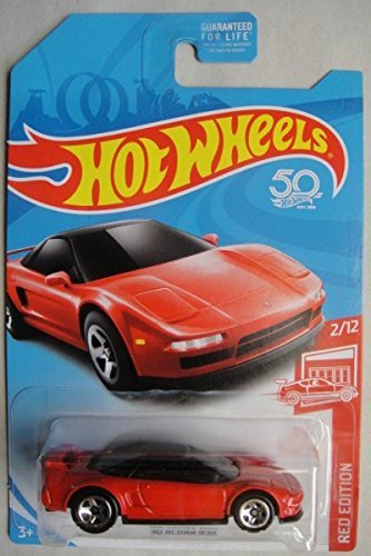HOT WHEELS RED EDITION 2/12 EXCLUSIVE, RED '90 ACURA NSX 50TH - Nsx Hot Wheels Acura