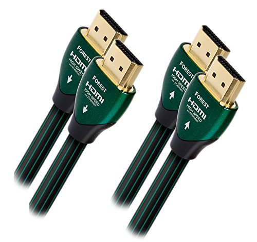 - AudioQuest Forest Black/Green HDMI Cable with Ethernet Connection (1 Meter 2-Pack)