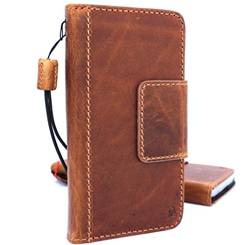 Genuine Vintage oiled Leather Case for Samsung Galaxy S8 active Book Wallet Luxury Cover S Handmade Retro Id s 8 sport magnetic closure DavisCase IL